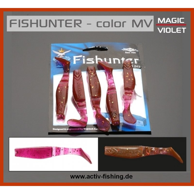 "/""MIKADO FISHUNTER MAGIC VIOLET/"" Shads Drop-Shot Köder Gummifische 5,0 bis 13,0cm"