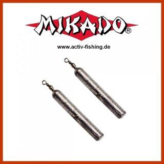 2 x MIKADO runde Drop Shot Sinker Bleie mit Klemm Wirbel von 20g bis 40g erh/ältlich