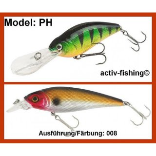 9g - 6,0cm Wobbler PERCH 008 Tauchtiefe 6m, VMC Haken