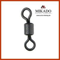 10 x MIKADO ROLLING SWIVEL schwarz matte...