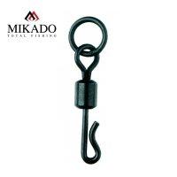 10 x MIKADO QUICK CHANGE SWIVEL WITH RING schwarze...