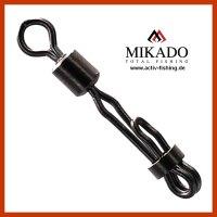 4 MIKADO Speed Lock Snap Swivel Wirbel Karpfenwirbel #8...