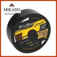 10m MIKADO GRAVIS Lead Core braunes Vorfachmaterial 25...