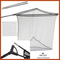 MIKADO Karpfenkescher 2-teiliger Kescherstab 1.8m Power...