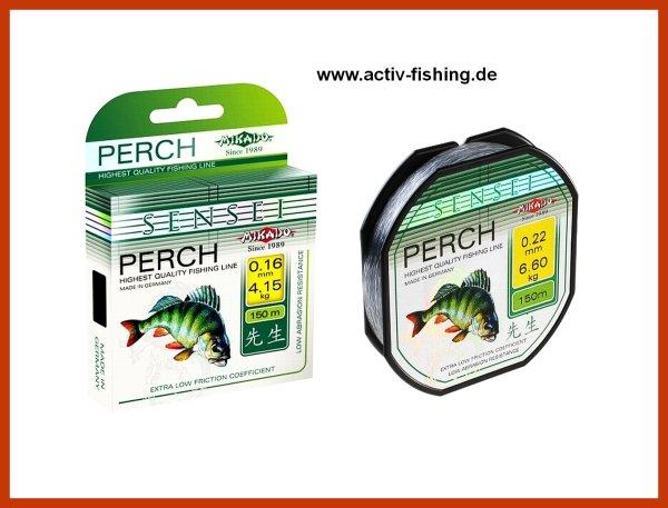 """150m """"PERCH"""" seidig glatte und weiche Angelschnur  Ø 0,24mm / 7,70kg"""