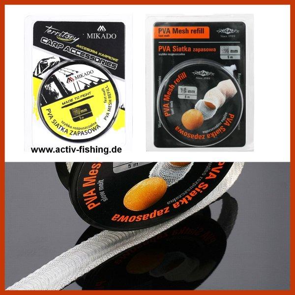 5,0m feines PVA Netz 18mm Refill Spool Nachfüller, PVA- fine Mesh Auflösung 60-90 sek. bei 15°C Wassertemperatur