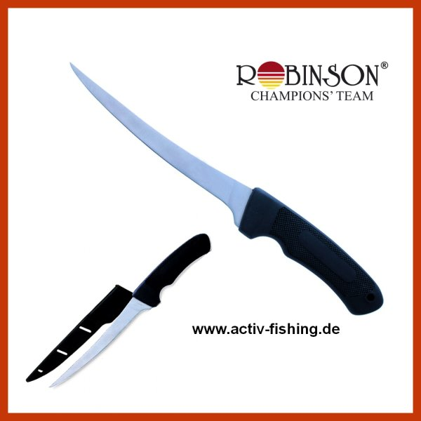 """""""ROBINSON"""" Filetiermesser Angelmesser Messer Länge 30,0cm/Klinge 16,5cm"""