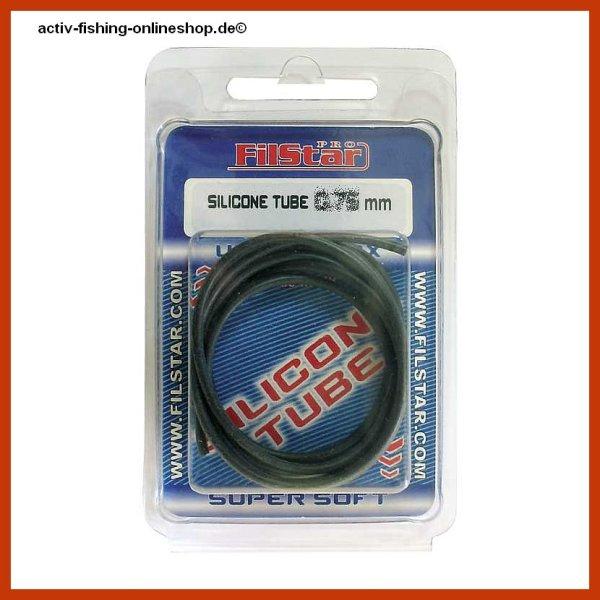 1m sehr elastischer schwarzer Rig Schlauch, Posenschlauch Innen-Ø ca. 0,75mm