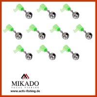 MIKADO 10 x Aalglöckchen mit Knicklichthalter...