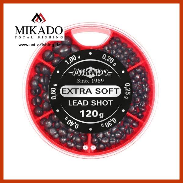 120g sehr weiches Bleischrot Softblei Klemmblei 0,20g bis 1,0g