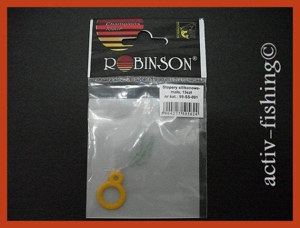 15 Stück Robinson Silikonstopper Schnurstopper erhältliche Größen: S/M/L
