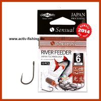10 MIKADO RIVER FEEDER Angelhaken  Feederhaken...