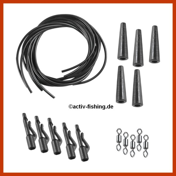 "5 x ""FILSTAR CARP "" Karpfenmontage Safety Bolt Rig Karpfen System"