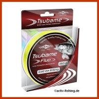 """150m """" MIKADO TSUBAME FLUO""""  fluo gelbe Angelschnur  Ø 0,16mm / 4,30kg"""