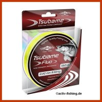 """150m """" MIKADO TSUBAME FLUO""""  fluo gelbe Angelschnur  Ø 0,22mm / 6,50kg"""