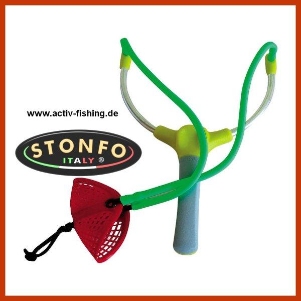 """original """"STONFO"""" Art. 339-1 alluminium Futterschleuderer Köderschleuder Zwille"""