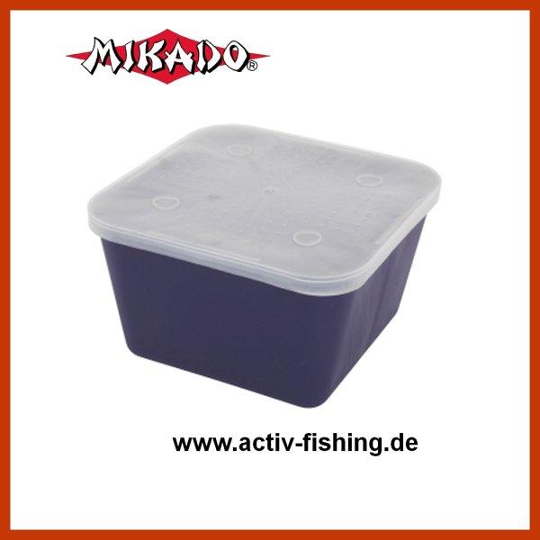 """""""MIKADO"""" Madendose 17,5x17,5x10cm / ca. 1,5 Liter mit gelochtem Deckel Madenbox Köderbox Wurmdose Köderdose"""