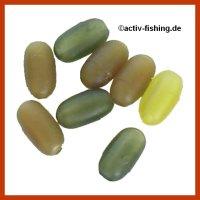 10 ovale Gummiperlen, Soft Beads, Rubber Beadsr...