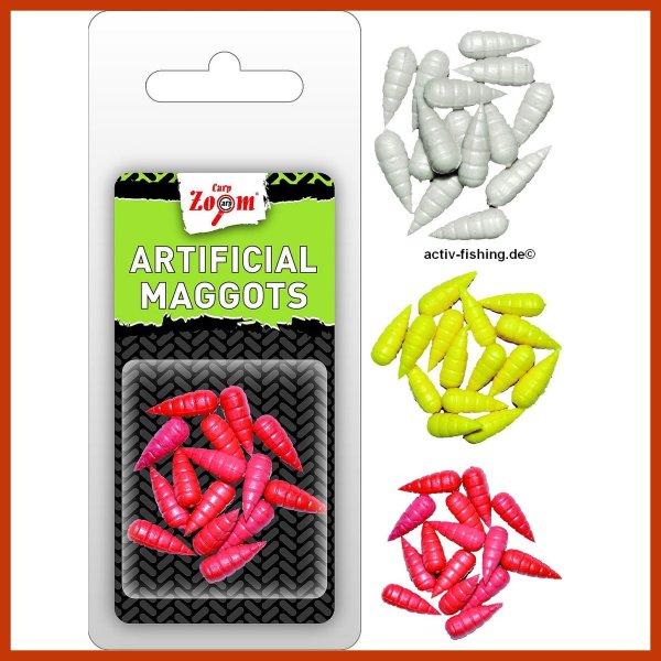 """15 x""""CARP ZOOM Artificia Maggots """" künstliche Maden Kunstmaden yello (gelb)"""