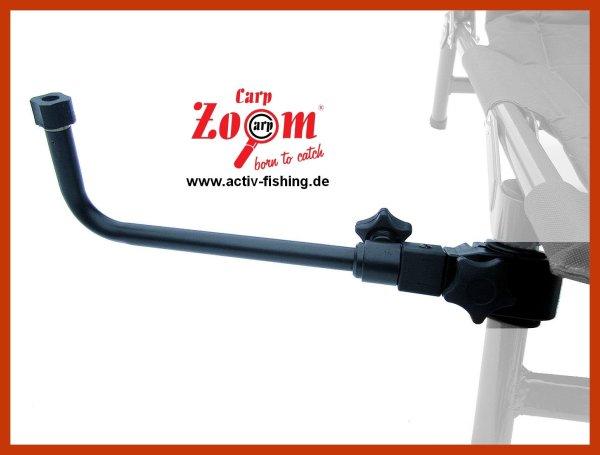 """""""CARP ZOOM"""" 90° 28x10cm Setzkescherhalter Ablagearm für Karpfenstühle Sitzkiepen"""