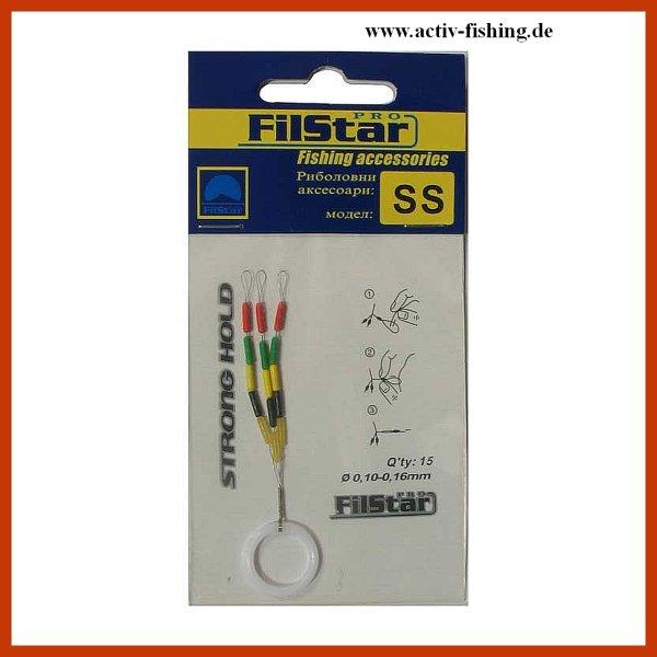 """"""" TEAM FILSTAR """" präzise mehrfarbige Schnurstopper Gummistopper Posenstopper M / Ø 0,15 - 0,25mm"""