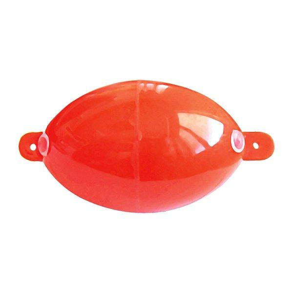 """ BULDO"" rote ovale Wasserkugel Ø ca.4cm Länge ca. 8cm Forellenpose Marker"