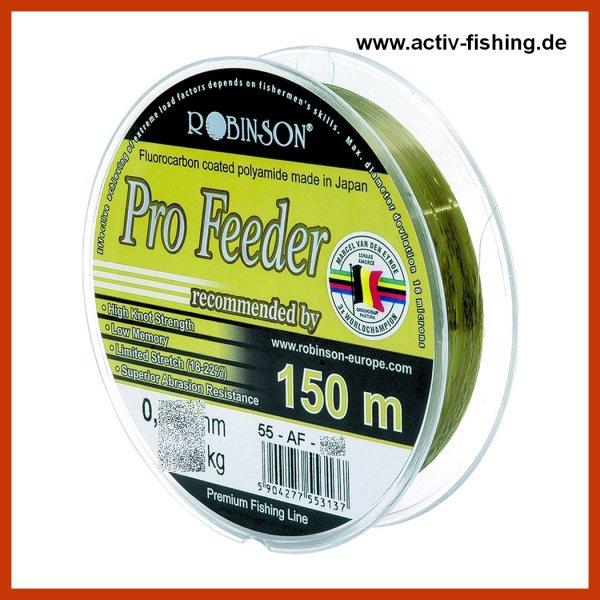 """150m """"VAN DEN EYNDE PRO FEEDER"""" Flourcarbon beschichtete polyamid Angelschnur Ø 0,185mm / 4,95kg"""