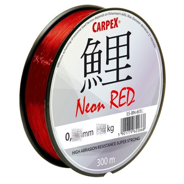 """300m """"ROBINSON"""" rote monofile Angelschnur Karpfenschnur Method- Feederschnur Ø 0,36mm / 24,0kg"""