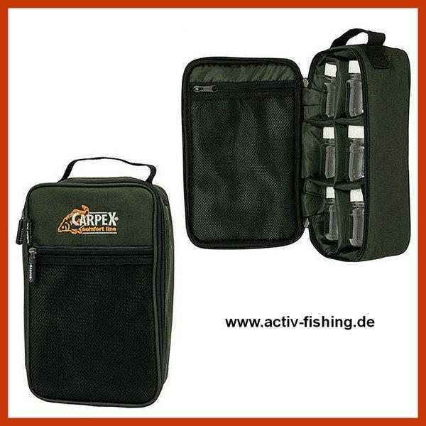 """""""CARPEX"""" 600D beschichtet / 29x17x8cm  Bait Bag Carryall Angeltasche mit 6 Dosen"""