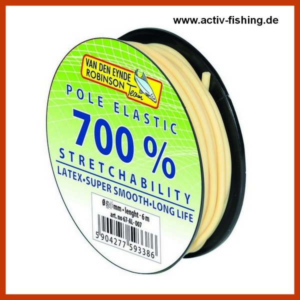 6m VAN DEN EYNDE ROBINSON Latex Pol Elastic 700% Dehnung  Gummizug Matchgummi 1,00 mm