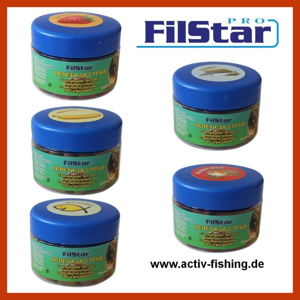 70g TEAM FILSTAR PRO METHODFEEDER sinkende 10 - 14mm Soft Hook Feeder Pellets Strawberry (Erdbeere)