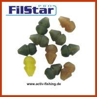 10 FILSTAR CARP Helicopter Bead Soft Beads, Rubber Beads...