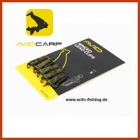 "5 x ""AVID CARP Ringed Lead Clips"" Camou Tarn Farbe"