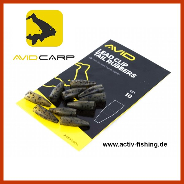 10 x AVID CARP LEAD CLIP TAIL RUBBERS 1,8cm End Tackle Camou Tarn Farbe