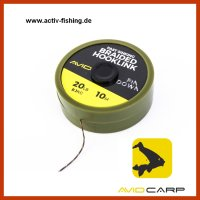 10m AVID CARP PINDOWN BRAIDED HOOKLINK Vorfachmaterial...