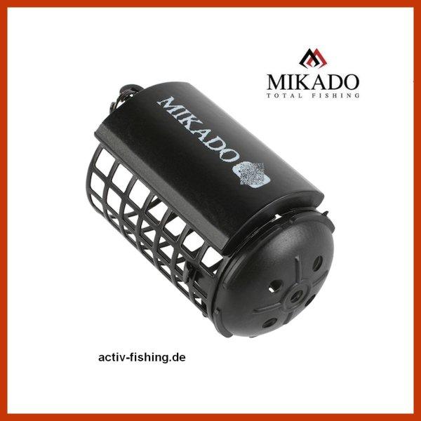 """/""""MIKADO/"""" schwarzer Futterkorb Ø32 x 37mm 5g bis 25g Feeder With Bottom"""