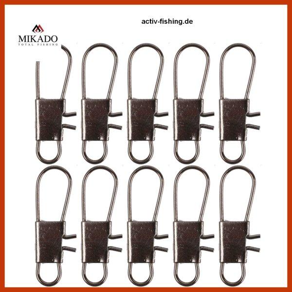 """10 Stück """"MIKADO"""" Einhänger Safety Snap Sicherheits Karabiner #1 / 10kg"""