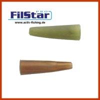 5  braune + 5 grüne FILSTAR CARP 2cm Silikon Rig...