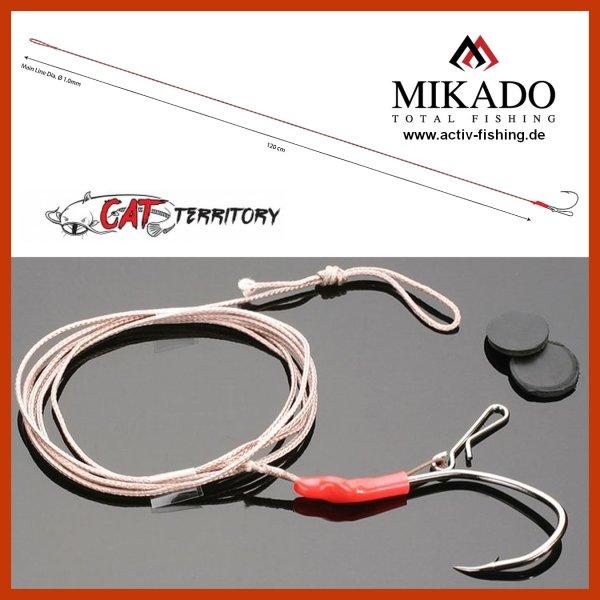 Mikado CAT Welsmontage Waller Vorfach 1,5m///Ø1,0mm Unterwasserpose Tragkraft 50g erh/ältlich mit Hakengr/ö/ße 2//0 und 4//0