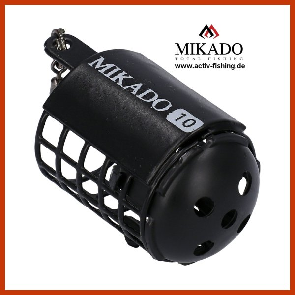 MIKADO kleiner schwarzer MICRO Futterkorb Ø25 x30mm Feeder With Bottom 25g